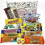 Confezione Media di Snack Americani | Cioccolato per Idea Regalo di Natale e Compleanno | Vasta Gamma tra cui Reeses Baby Ruth Hersheys | 18 Pezzi in Confezione Vintage di Cartone