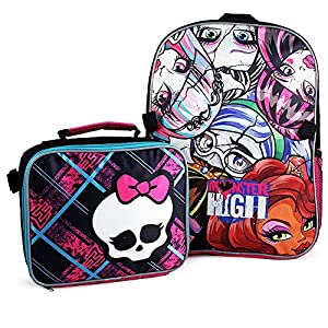 61nZFWCPFJL. SS300  - Monster High Backpack and Lunch Bag Set