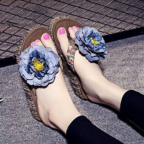 Cailin Sandals, 4.5cm Chaussons épluchés d'été Pantoufles de plage à perles faites à la main Simples pantoufles antidérapantes avec 12 sortes de couleurs ( Couleur : #5 , taille : EU38/UK5.5/CN38 ) #6