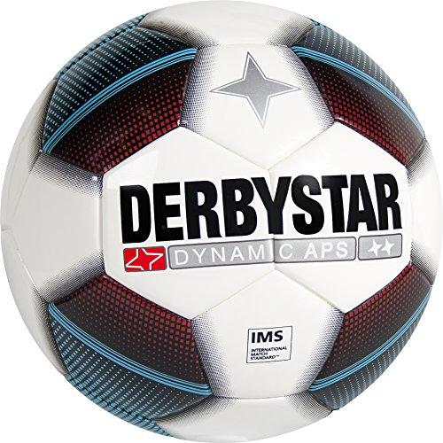 Derbystar fútbol Dynamic APS, Color Blanco/Rojo/Azul/Negro, 5, 1002500163