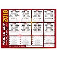 World Cup Wallchart Russia 2018 - Neat Stylish Wall Chart To Track The Football Progress (Red)