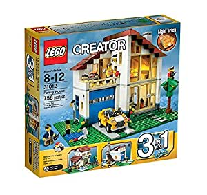 lego creator 31012 jeu de construction la maison de famille jeux et jouets. Black Bedroom Furniture Sets. Home Design Ideas