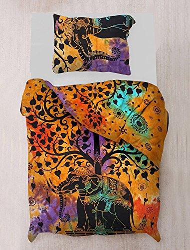 Sophia Art Doona Mandala Bettbezug indischen Urban Baumwolle Quilt Decke mit Kissenbezügen Twin Größe Tagesdecke Single, ohne Füllstoffe - Urban Duvet-set