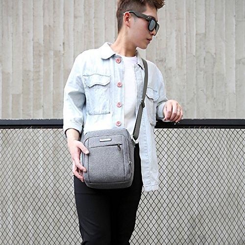 Outreo Taschen Retro Umhängetasche Herren Kuriertasche Vintage Schultertasche Sport Herrentaschen Messenger Bag für Tablet Braun