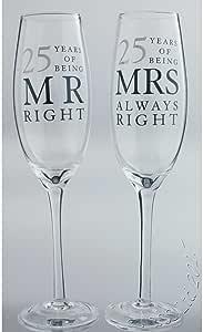 Personalizzato Amore 30/º Anniversario Nozze di Perla 30 Meravigliosi Anni Insieme Bicchieri Flute da Champagne flutes in Confezione Regalo Aggiungi il tuo messaggio
