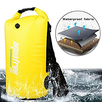 Aquafree Dry Bag, 20l Yellow Dry Backpack, Comfortable & Heavy-duty Grab Handle & Shoulder Strap, Best Material Waterproof Backpack, Quality Roll Top, Waterproof 4