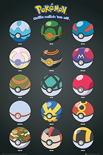 gb-eye-ltd-pokemon-pokeballs-maxi-poster-61-x-915-cm