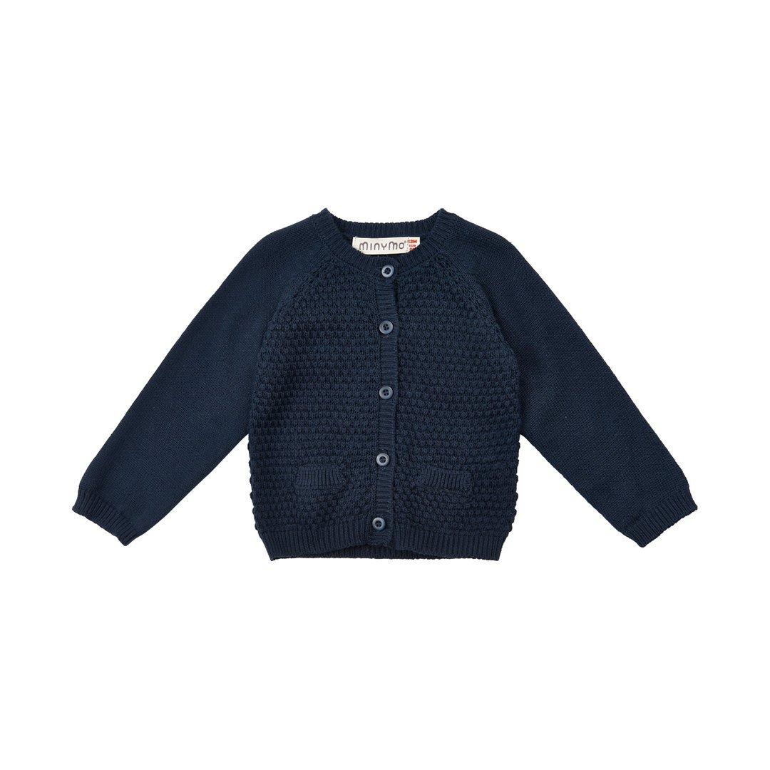Minymo lavorati a maglia fine giacca Navy blu blu navy 86
