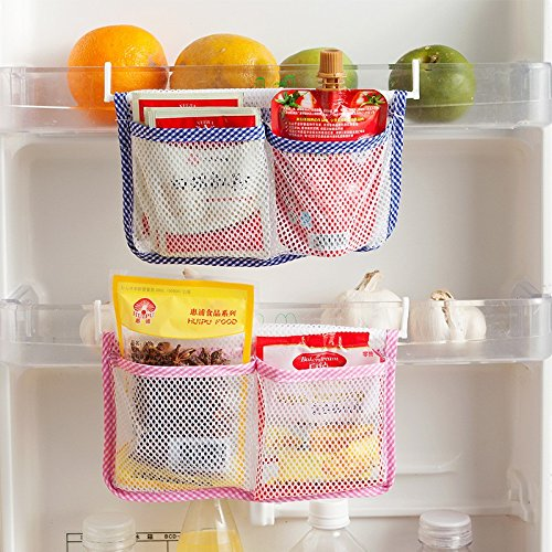Lemish Creative Refrigerator Food Container Hanging Storage Bag Space Saver Pouch – 4 pcs