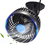 HueLiv Car Fan 12V Electric Vehicle Fan with Suction Cup Cooling Fan Plugs into Cigarette Lighter, Powerful Silent and…