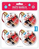 Shot2go Pack of 4 Christmas Photo Baubles