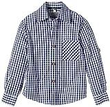 G.O.L. Jungen Hemd Trachtenhemd, Vichy-Karo, Gr. 152, Blau (blau/weiß 1)