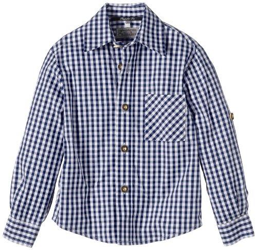 G.O.L. Jungen Hemd Trachtenhemd, Vichy-Karo, Gr. 164, Blau (blau/weiß 1)