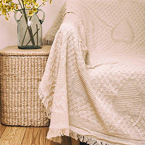 YANGYAYA Housses de canapé Solid Color Housses canapé Couverture de canapé Couverture de Baie vitrée Tapis À 1,2,3,4 Coussin Couvre-Meubles Protector-C 130x170cm(51x67inch)(1PCS)