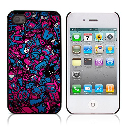 Graphic4You Stick People love drawing Design Harte Hülle Case Tasche Schutzhülle für Apple iPhone 4 und 4S Design #6
