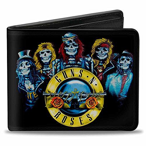 Buckle Down unisex - erwachsene Wallet Guns N' Roses Skeleton Group/bullet Logo  Zweifalten-Geldbörse  -  mehrfarbig -