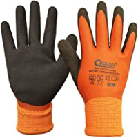 Thermal Work Safety Glove, Cold Resistance, Fleece Lining, Fully Latex Rubber Coated For Water Proof, Sandy Soft/Anti…
