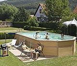 Zodiaque azteck maxiwood piscine en bois ovale 4m x 10,5m