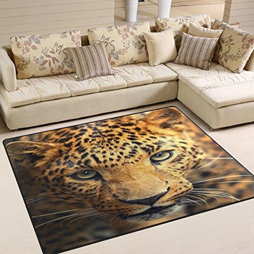 Use7 Alfombra con diseño de Leopardo para Sala de Estar, Dormitorio, Tela, 160cm x 122cm(5.3 x 4 Feet)