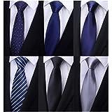 Weishang Pack of 6 Men's Classic Business Tie Silk Necktie Neck Ties
