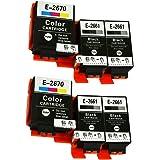 Caidi® - Cartuchos de tinta compatibles con Epson 266 267 T2661 T2670 para impresora Epson WorkForce WF-100W (6 unidades, neg