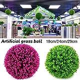 Palla decorativa di erba artificiale in plastica di alta qualità, diametro 19/24/29cm, per bar, centri commerciali, matrimoni, decorazioni natalizie. I fiori in plastica possono essere posizionati o appesi