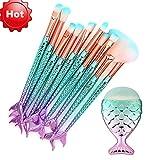 11PCS/10PCS EUZeo Make-up Pinsel Set,Make Up Eyeliner Blush Kosmetik Pinsel Make-Up Pinselset Pinsel Set Teiliges Premium Schminkpinsel Set (11PCS)