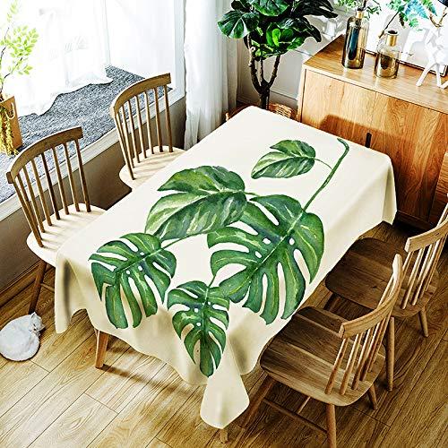 MMHJS Polyesterfaser Tischdecke Rustikalen Stil wasserdichte Tischdecke Rechteckigen Druck Waschbar Tischdecken Halloween Dekoration Tischdecke C 150X210cm / 59X83In