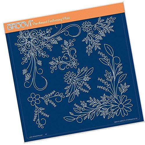 A4quadratisch Groovi Teller–Tina 's Floral Swirl & Ecken 2