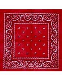 Bandana mit original Paisley Muster in rot