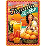 Nostalgic-Art 26144 Open Bar - Cocktail-Time - Tequila Sunrise, Blechschild 15x20 cm