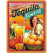 Cartel de chapa 15x20 -C ocktail-Time - Tequila Sunrise