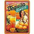 Nostalgic-Art 26144 Bier und Spirituosen Cocktail-Time, Tequila Sunrise, Blechschild, 15 x 20 cm