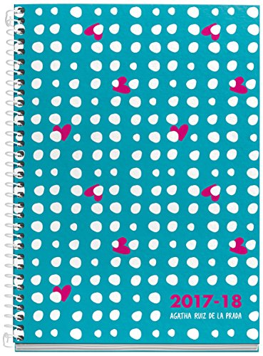 Agatha Ruiz De La Prada 273001 -Schülerkalender Plus, 155x 215mm, Wochenansicht, Design Punkteregen (evtl. nicht in deutscher Sprache)