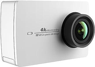 YI 4K Action Kamera 4K/30fps Videoaufnahme 12MP ActionCam mit 155¡ã Weitwinkel 5,56 cm (2,2 Zoll) LCD Touchscreen, Wifi und App für Smartphone, Sprachbefehl (Nur Kamera weiß)