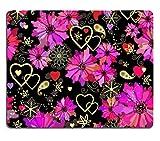 liili Tapis de souris Tapis de souris en caoutchouc naturel d'image: 26016741Saint Valentin sans couture avec motif floral Grunge foncé Rose Fleurs et Cœurs Vector