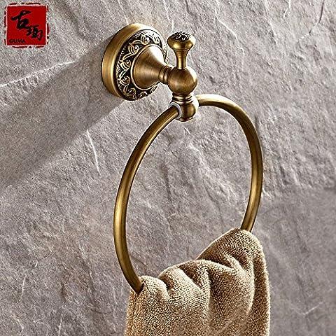 ZJM European antique bathroom hardware accessories towel ring copper loop for hanging American hand towel ring towel ring towel ring 180mm ,