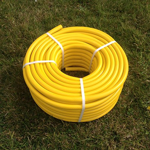 Price comparison product image 50 Metre Yellow Garden Hose Pipe - 50M Reinforced Anti-kink Water Hosepipe