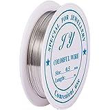 PandaHall 1 rol / 7 m ijzer Soft Craft pareldraad sieraden kralen verpakking 0,5 mm / 24 gauge zilver