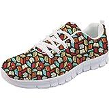 Coloranimal - Scarpe da ginnastica leggere con lacci, per corsa e camminata, da donna