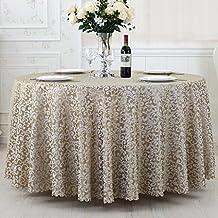 nappes de l'hôtel, de style européen table de restaurant tissu, nappes de conférence, tissu de table ronde circulaire, diamètre: 200cm nappe