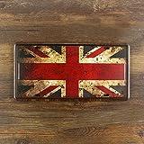 Retro Wandschild Union Jack Flagge Blechschild Vintage Shabby Chic Küche Wand Lounge Home Größe 15x 30cm