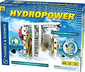 Thames & Kosmos - 624811 Hidropower - Juego de Ciencia renovable, construye Modelos para Aprovechar la energía del Agua, 12 experimentos, Edades 8 +