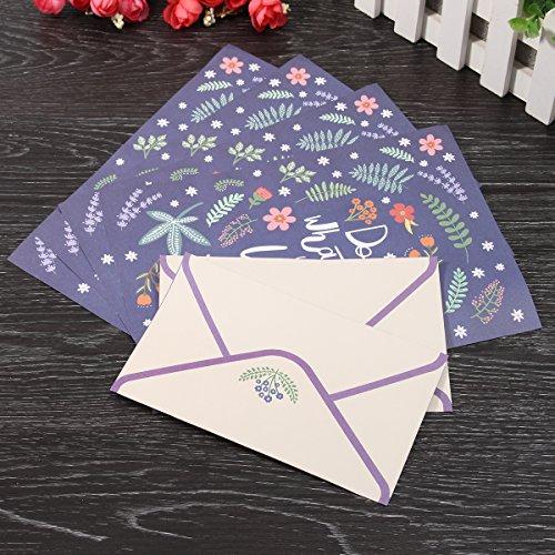 Preisvergleich Produktbild Tutoy Nettes Feines Blumen-Tier-Buchstabe-Auflage Schreibpapier-Büro-Schule Supplie 4 Papier Und 2 Umschläge Set - # 01