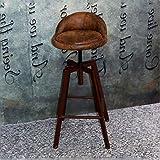 BY-lYJ American Vintage en Fer forgé Ascenseur Bar Tabouret Retro Vieux Tabouret de Bar Tabouret Tabouret Haut Chaise Créative (Couleur : 1)...