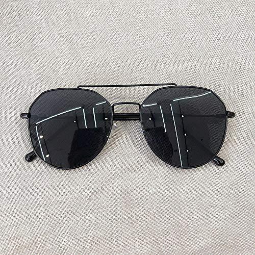 CYCY Korea Harajuku Brille Koreanische Version der Flut Studentinnen Wilde Mode runden Metallrahmen Ozean Stück Sonnenbrille Sonnenbrille Männer grün @ schwarz