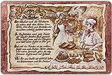 Geschenk Bäcker Blechschild 30 x 20 cm