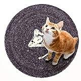 ETH Cartone Animato Rat Sisal Cat Scratch Pad Board Pet Paw Care Toy Artiglio Cat Lettiera Pentole Mat Bed Divano Multiple Scratching Angles Kitten Scratcher Durevole