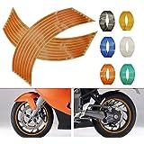4PCS Calcomanía Reflectante para Llantas de Ruedas de de 14, 17 o 18 pulgadas para Ruedas de Motocicleta Coche Bicicleta Bici