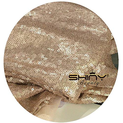 shinybeauty 48in round-silver Weihnachtsbaum Rock mit Silber glitzernden Pailletten für Ihre Party besser Dekoration, champagnerfarben, 48inch Round Wicker Krippe